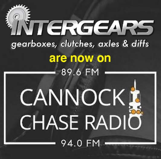 Intergears are now on Cannock Chase Radio